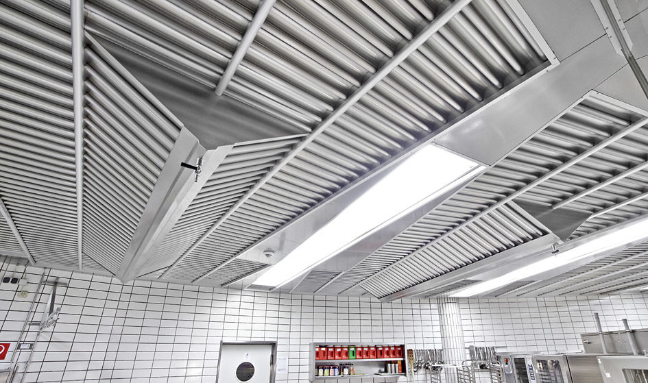 GIF convex restaurant system with active cassettes